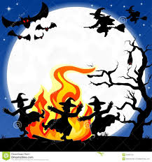halloween dance images witches dancing around fire at halloween stock photo image 33829310