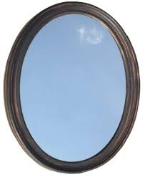 Bathroom Oval Mirrors by Amazon Com Decorative Oval Framed Wall Mirror Oil Rubbed Bronze