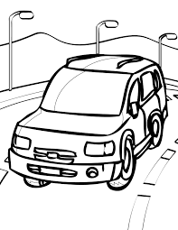 car coloring page handipoints