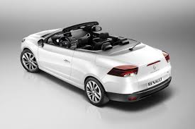 new renault megane coupe cabriolet with folding glass top bows