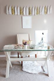 Home Office Glass Desks Small Home Office Design Ideas Glass Desk Hello Lovely Living