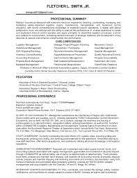 Resume For Logistics Executive Logistics Resume Fletcher L Smith Professional Logistics Resume