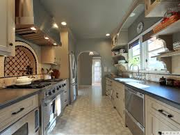 kitchen style modern spacious galley kitchens black granite