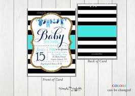 baby boy shower invites blue black and white baby shower invitation baby boy shower