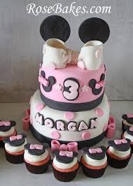 polka dot fondant bow minnie mouse bow rose bakes