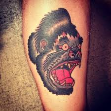 scary ape cool tattoos
