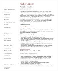 restaurant server resume sle server resume 7 exles in word pdf