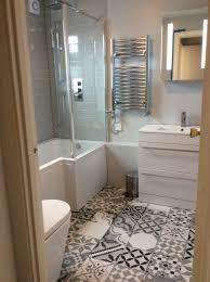 funky bathroom ideas bathroom shaped tiles with orating stickers small bathroom