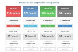 Bootstrap Table Example Bootstrap 3 0 Pricing Tables Flat Website Templates Creative