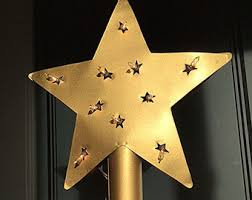 Star Christmas Tree Toppers Lighted - lighted tree topper etsy