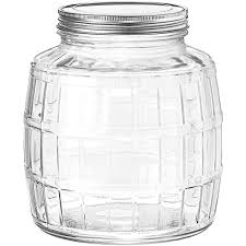 clear glass jars anchor hocking 1 gallon barrel glass jar