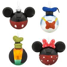 your wdw store disney ornament set mickey mouse and