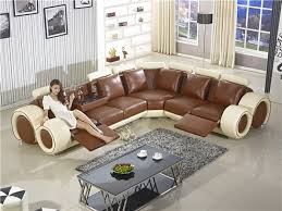 Recliner Sofa New Design Large SIze L Shaped Sofa Set Italian - Table sofa chair