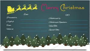 reindeer gift certificate templates