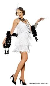 Halloween Flapper Costumes White Hollywood Flapper Costume Candy Apple Costumes