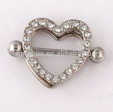 nipple rings jewelry images Wholesale heart shaped nipple ring crystal nipple ring 316l jpg