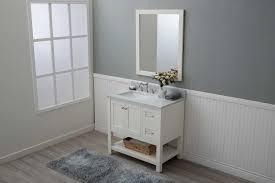 Open Shelf Bathroom Vanities White Shaker 36