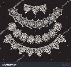 lace necklace pattern images Neck decoration necklace isolated crocheted lace stock vector jpg