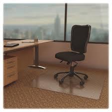 lorell 02158 rectangular low pile economy chairmat carpeted floor