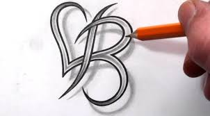 8 best images of hearts with letter j designs letter b heart