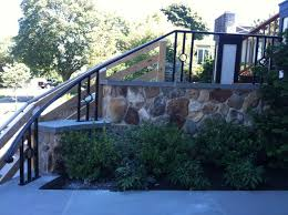 Exterior Stair Railing by Colonial Iron Works Iron Exterior Handrails