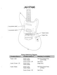 fender mustang wiring diagram cobain mustang and jagstang wiring diagrams fmic official