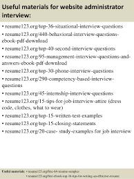 Branch Manager Resume Sample by Top 8 Website Administrator Resume Samples