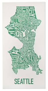 Atlanta Neighborhoods Map by Seattle Neighborhood Type Map Posters U0026 Prints Made In The Usa