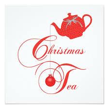 christmas tea party teapot christmas tea party invitation zazzle