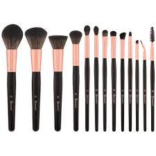 rose gold 13 piece makeup brush set bh cosmetics