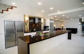 Kitchen Cabinet Solid Surface Contemporary Kitchen With One Wall By Classic Remodeling Zillow