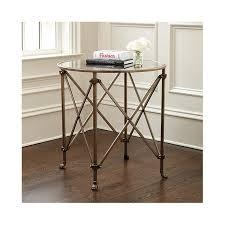 ballard designs end tables olivia 30 round mirrored side table mirrored side tables round