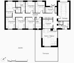 plan plain pied 5 chambres plan maison moderne plain pied luxe plan maison 5 chambres