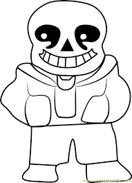 sans undertale coloring free undertale coloring pages