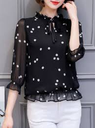 black polka dot blouse fashionmia black and white polka dot blouse fashionmia com