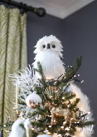 owl christmas tree topper christmas lights decoration