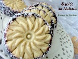 cuisine alg駻ienne gateaux recettes sablés au nutella amour de cuisine