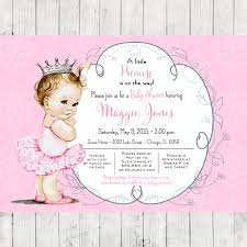 Princess Themed Invitation Card Princess Crown Baby Shower Invitations Theruntime Com