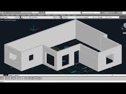 Autocad 3d House Part1 Making 3d Walls Youtube Autocad 3d House Plans