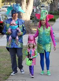 Seahorse Halloween Costume Alyson Hannigan Husband Daughters Trick Treating