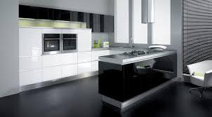 Red Black White Kitchen - black white red kitchen modern cabinets ideas and flooring