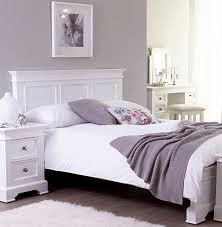 White King Size Bed Frame White Kingsize 5ft Panelled Bed Frame