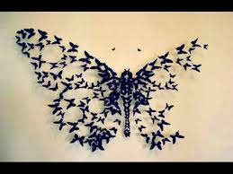 diy butterfly wall decor wall decor idea how to cut paper