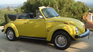 volkswagen beetle yellow 1975 volkswagen beetle convertible for sale near poway california