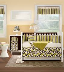 baby room with stripes window valances and nursery bedding sets