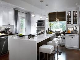 classic and trendy 45 gray and white kitchen ideas contemporary kitchen window treatments hgtv pictures hgtv