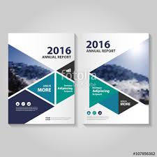 cover layout com blue green purple triangle business proposal leaflet brochure flyer