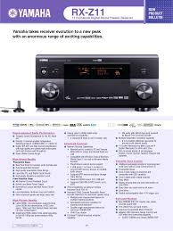 download free pdf for yamaha rx z11 receiver manual