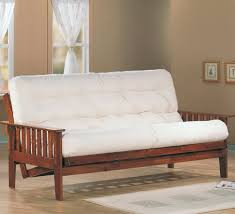 Sofa Bed With Innerspring Mattress by Wooden Futon Sofa Bed Roselawnlutheran