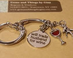 wine glass keychain wine keychain etsy